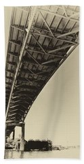 Ship Canal Bridge Old Yellow Beach Towel