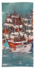 Ship Harbor Beach Towel