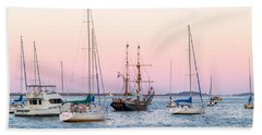 Ship Out Of Time Beach Towel