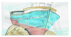 Ship Wreck Beach Towel by Terry Frederick