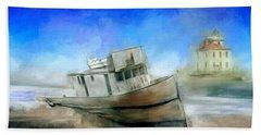 Ship Wrecked Beach Towel