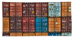 Shipping Containers Beach Towel