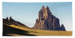 Shiprock 3 - North West New Mexico Beach Towel by Brian Harig
