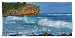 Shipwreck Beach Shorebreaks 2 Beach Towel