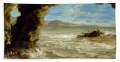 Shipwreck On The Coast  Beach Towel