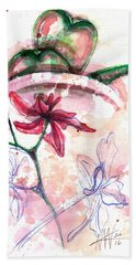 Shiraz Orchid II Beach Towel