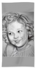 Shirley Temple Beach Towel by Fred Larucci