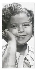 Shirley Temple Beach Towel by Wayne Pascall
