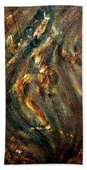 Beach Towel featuring the painting Shiva Eternal Dance by Harsh Malik