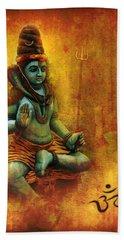 Shiva Hindu God Beach Towel