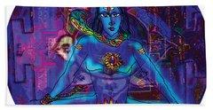 Shiva In Meditation Beach Towel