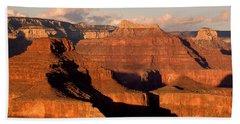 Shiva Temple  At Sunset Grand Canyon National Park Beach Towel