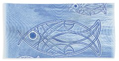 Shoal Of Fish Abstract Beach Towel