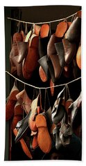Shoemaker Shop In Colonial Williamsburg Beach Towel by Emanuel Tanjala