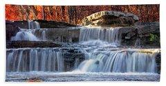 Shohola Falls In The Poconos Beach Towel