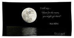 Shoot For The Moon Beach Towel