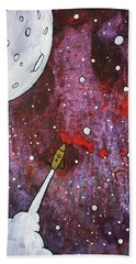 Beach Towel featuring the painting Shoot For The Stars by Nathan Rhoads