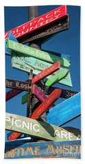 Shopping Directional Sign Beach Towel