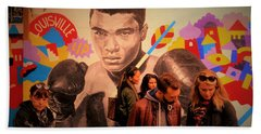 Shopping In Brooklyn With Mohamed Ali Beach Towel