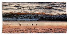 Beach Sheet featuring the photograph Shorebirds by Lars Lentz