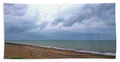 Shoreham Shoreline Beach Towel by Anne Kotan