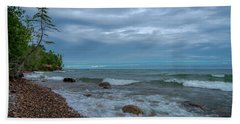 Shoreline Clouds Beach Towel