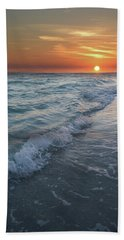 Shoreline Sunset Beach Towel