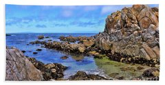 Shores Of Pacific Grove  Beach Towel by Gina Savage