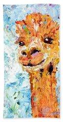 Shorn Alpaca. Where's My Fleece? Beach Towel