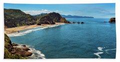 Short Beach, Oregon Beach Towel