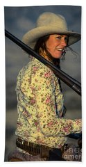 Shotgun Annie Western Art By Kaylyn Franks Beach Sheet