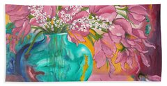 Shower Of Pink Beach Sheet