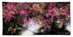 Shower Tree Flowers And Hawaii Sunset Beach Towel