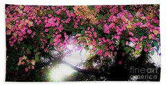Shower Tree Flowers And Hawaii Sunset Beach Sheet