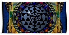 Shri Yantra 1 Beach Towel
