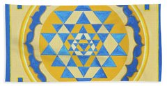 Shri Yantra For Meditation Painted Beach Towel