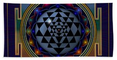 Shri Yantra Beach Towel