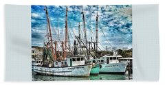 Shrimp Boats Beach Towel