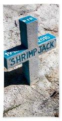 Shrimp Jack Beach Sheet by Lawrence Burry