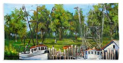 Shrimping Boats Beach Towel