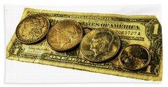 Shrinking Dollars Beach Towel