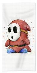 Shy Guy Watercolor Beach Towel