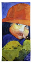 Beach Sheet featuring the painting Shy Senorita by Sandy McIntire