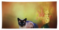 Siamese If You Please Beach Towel by Suzanne Handel