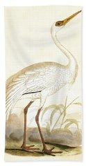 Siberian Crane Beach Towel by English School
