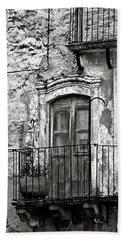 Sicilian Medieval Facade Beach Sheet