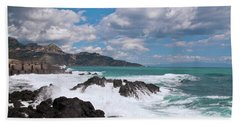 Sicilian Stormy Sound Beach Towel