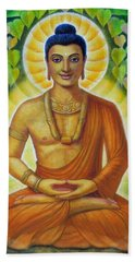 Beach Towel featuring the painting Siddhartha by Sue Halstenberg