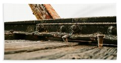 Side Of Rail #photography #trains Beach Towel