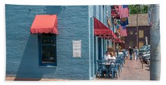 Sidewalk Cafe Annapolis Beach Sheet by Charles Kraus